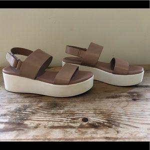 Aldo women's wedge platform strap sandals, size 7